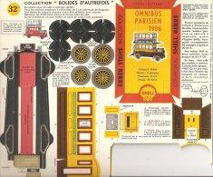 SHELL / BOLIDES D' AUTREFOIS / OMNIBUS PARISIEN 1906 - Carton / Lasercut