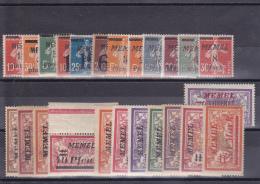 MEMEL - COLLECTION **/* - COTE YVERT = ENV. 25 EUR. - Memel (1920-1924)