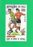 REP. DU MALI ,,, ESPAGNE 82 ,, COUPE DU MONDE DE FOTBALL ,, ** 500 F. ** ,, POSTE 1982 ,, TBE - Mali (1959-...)