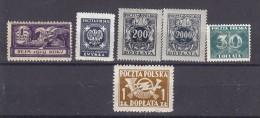 POLOGNE - Lot De 6 TP Différents Poste Service Et Taxe   - Tous N** - Collections
