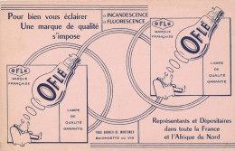 BU 982 - BUVARD     POUR BIEN VOUS ECLAIRER UNE MARQUE DE QUALITE S'IMPOSE  OFLE - Electricité & Gaz