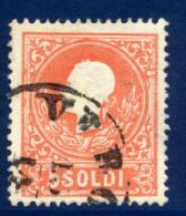AUSTRIA: LOMBARDY VENETIA 1858 Franz Joseph 5 Soldi Black, Type I,  Used.  Michel 9 I - 1850-1918 Empire