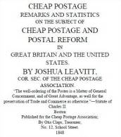"EBook: ""Cheap Postage""  By Joshua Leavitt - Literatura"