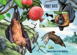 mld13210bi Maldvis 2013 Fruits Bats imperf s/s