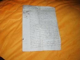 TRES ANCIEN DOCUMENT DATE ?.. A ETUDIER / 5 PAGES ECRITES / SIGNATURE. A DECHIFFRER VIEUX FRANCAIS. - Manoscritti