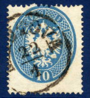 AUSTRIA: LOMBARDY VENETIA 1863 Arms 10 Soldi Perforated 14,  Used.  Michel 17 - Used Stamps