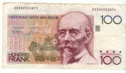Billet De 100 Francs Belgique - [ 2] 1831-... : Belgian Kingdom