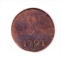 COINS  PAYS-BAS   KM  91b  VF     1791.    (PB 56) - [ 1] …-1795 : Période Ancienne