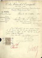 P0460 - Douai: Cie Des Mines De L'Escarpelle, A. Noël (Paris): Lettre 1887 Aux Charb. Bonne-Espérance - France