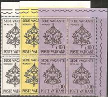 Vaticano 1963 - Nuovo 362-64 - Sede Vacante - Bloc 4x - MNH** - Vatican