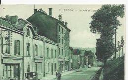 Rehon   La Rue De Longwy Avec Cfé Et Pub Biére De Longwy - France
