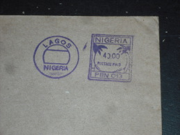 LETTRE NIGERIA AVEC EMA POSTAGE PAID PORT PAYE - POUR PALANGA LITUANIE LIETUVA - - Nigeria (1961-...)