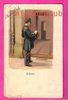 Le Facteur - Illustration - Chocolat Louit - Carte Vierge Dos Précursseur - - Poste & Postini