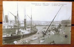 """Cie Gale Transatlantique """" Ville D'Alger"""" ECHOUE Après ABORDAGE Par """"L'Orléannais"""" 1909 - Steamers"""