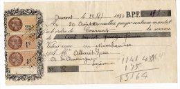 Billet à Ordre, Aumont (Lozère), 1930 - Non Classés