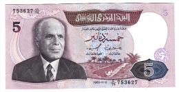 Tunisie - Billet De 5 Dinars De 1983-11-3 - N° 753627 - Pick 79 - Tunisia