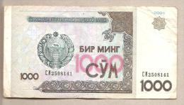 Uzbekistan - Banconota Circolata Da 1000 Som - 2001 - Uzbekistan