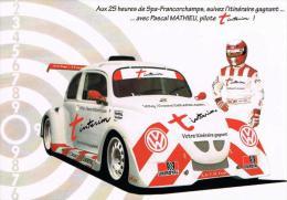 25 Heures VW Fun Cup Volkswagen Cox Spa Francorchamps Pascal Mathieu  Juillet 2002 - Non Classés