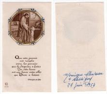 Nassigny, Image Pieuse Communion 1954, Monique Cloupeau, église, Jésus - Devotion Images