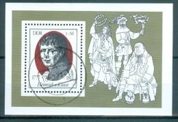 DDR - Block Mi-Nr. 51 - 200. Geburtstag Von Heinrich Von Kleist Gestempelt Aue - [6] República Democrática