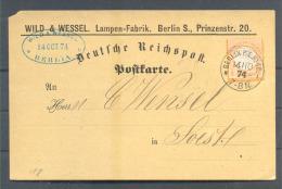 Brustschild Karte EF Berlin 14.10.1874 !! ( Del-3064) - Deutschland
