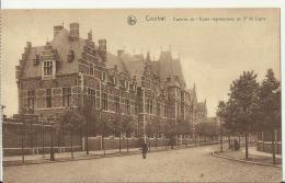 BELGIUM – VINTAGE POSTCARD – COURTRAI: CASERNE DE L'ECOLE REGIMENTAIRE DU 2e DE LIGNE -  ANIMATED - NEW  NOT SHINING REP - Kortrijk