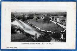 65 CASTELNAU RIVIERE BASSE PLACE DE LA GALOPE CARTE GAUFFREE