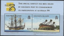 Solomons Islands  Yvertn° Bloc 54 *** MNH Cote 15 Euro Australia 1999 Ships Bateaux Boten - Salomon (Iles 1978-...)