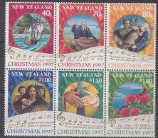 Nouvelle-Zelande New Zealand  1997 Yvertn° 1554-59 *** MNH Cote 12 Euro Noel Kerstmis Christmas - Nouvelle-Zélande
