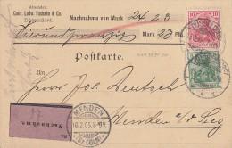 DR NN Karte Mif Minr.70, 71 Düsseldorf 15.2.05 Gelaufen Nach Menden 16.2.05 - Deutschland