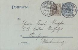 DR Ganzsache KOS Neusalza-Spremberg 17.4.07 Klarer Stempel - Deutschland