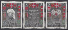 AUTRICHE Mi.nr.: 1273-1275  Oblitéré-Used-Gestempeld 1968 - 1945-.... 2nd Republic