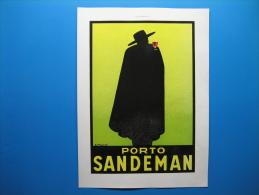 Publicité 1936  Porto SANDEMAN   -   Au Verso, Montres ROLEX - Advertising