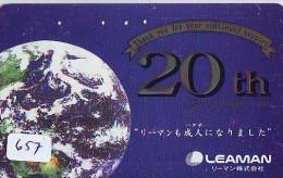 Télécarte Japon MAP * Carte Du Monde * GLOBE (657) Géographie * Mappemonde * Japan Phonecard * Telefonkarte * AARDBOL - Espacio