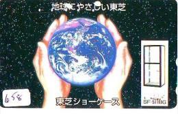 Télécarte Japon MAP * Carte Du Monde * GLOBE (658) Géographie * Mappemonde * Japan Phonecard * Telefonkarte * AARDBOL - Espacio
