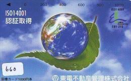 Télécarte Japon MAP * Carte Du Monde * GLOBE (660) Géographie * Mappemonde * Japan Phonecard * Telefonkarte * AARDBOL - Espacio