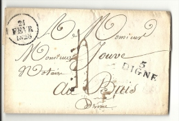 Basses Alpes - Digne Pour Buis (Drome). FEVRIER 1828 - Storia Postale
