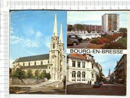 L436 -  BOURG EN BRESSE   -  Capitale Bressane -  3 Vues- Véhicules Anciens - Bourg-en-Bresse