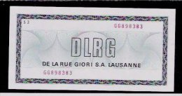 "Test Note ""DE LA RUE GIORI"" Testnote, W/o Units, Beids. Druck, RRRR, UNC, M. Serien-Nr. - Ohne Zuordnung"