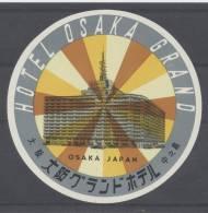 ETIQUETTE D`HOTEL NEUVE GRAND HOTEL OSAKA JAPON / LUGGAGE LABEL GEPÄCKETIKETT - Hotel Labels