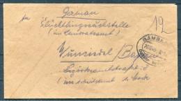 1945 Germany Bamberg Lager Gebühr Bezahlt Rotes Kreuz Red Cross Brief - American,British And Russian Zone