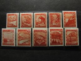 """AUSTRIA -1947-48- """"Vistas"""" 10 Val. MH* (descrizione) - 1945-.... 2ème République"""