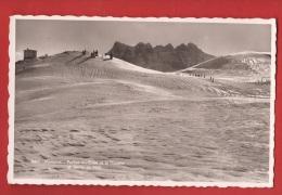 AREFU-12 Morgins Portes Du Culet Et La Douane Et Dents Du Midi, Petite Animation. Cachet Militaire 1944 - VS Valais