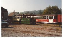 Photographie Originale, Musée De Valmondois, Train + Wagon Tramway F 495 En Date Du 29 9 85 , Format 10-15 - Eisenbahnen