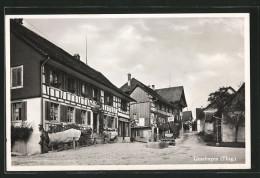 CPA Uesslingen, Vue De La Rue Avec Alten Fachwerkhäusern - TG Thurgovie