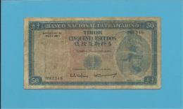 TIMOR - 50 ESCUDOS - 24.10.1967 - P 27 - Sign. 2 - REGULO D. ALEIXO - Timor