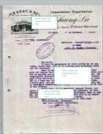 Beau Document Du  26/11/1927 THUONG-LA - Import Export - St-Denis La Réunion- PORT GRATUIT - France