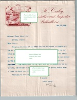 Beau Document Du 11/12/1895 CORBY Distillateur - Belleville Ontario Canada - PORT GRATUIT - Canada