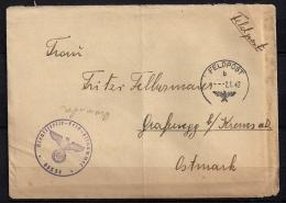 WWII ALEMANIA 1942, CORREO DE CAMPAÑA, FELDPOST Nº 05334,  A GRAFENEGG,  CORREO DE CAMPAÑA - Alemania