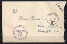 WWII ALEMANIA 1941, CORREO DE CAMPAÑA, FELDPOST Nº 05334,  A VIENA,  CORREO DE CAMPAÑA - Alemania